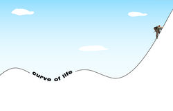 Life philosophy. Ups and downs Stock Photos