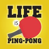 Life is ping pong illustration Royalty Free Stock Photography