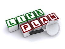Life plan in block letters Stock Images
