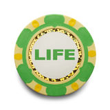 Life Poker Chip Royalty Free Stock Photography
