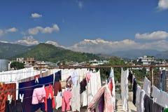 Life in pokhara,Nepal royalty free stock image