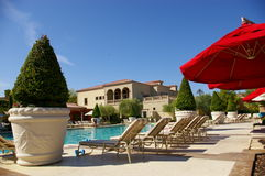 Life At The Pool. Picture at the pool area in Lake Las Vegas Stock Images