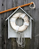 Life Preserver. On Wooden Shack Royalty Free Stock Photo