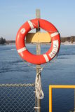 Life Preserver. A life preserver mounted near the waters edge in case of emergencies royalty free stock image