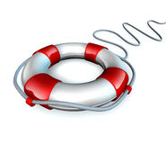Life preserver belt symbol isolated Royalty Free Stock Photos