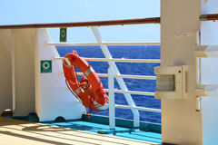 Life Preserver. A life preserver on a cruise liner Stock Photography