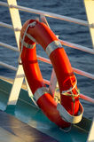 Life Preserver on Deck Stock Photos