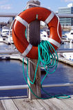 Life Preserver on Dock Stock Photography