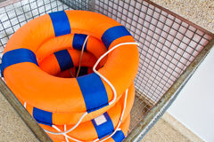 Life preserver floating Stock Images