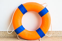 Life preserver floating. In swimming pool Royalty Free Stock Images