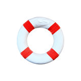 Life preserver floating. For design Royalty Free Stock Image