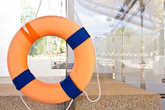 Life preserver floating Stock Image