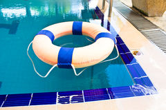Life preserver floating Royalty Free Stock Photos