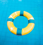 Life preserver floating Royalty Free Stock Image