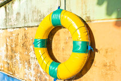 Life preserver floating Stock Photography