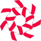 Life Preserver Graphic Design. Red white swirl life preserver graphic vector illustration
