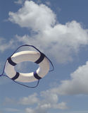 Life preserver in midair Royalty Free Stock Photos