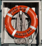 Life Preserver. Red Life Preserver with rope Stock Images