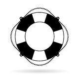 Life preserver ring vector icon Royalty Free Stock Images
