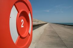Life Preserver at Samphire Hoe, Dover Stock Photography