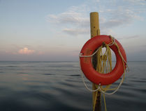 Life Preserver at Sunset Stock Photos
