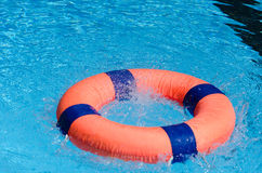Life preserver. On swimming pool Royalty Free Stock Photos