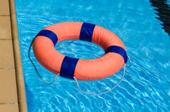 Life preserver. On swimming pool Stock Photography