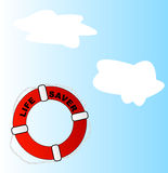 Life preserver thrown in air Stock Image