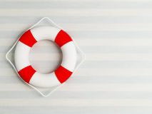 Life preserver on the wall Royalty Free Stock Photos