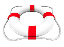 Life Preserver Water Rescue Saver SOS Coast Guard 3d White Red Stock Image