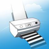 Life. The printer life. Prints the fate of the black and white stripes vector illustration