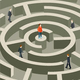 Life professional business trap maze flat isometric vector 3d Royalty Free Stock Photos