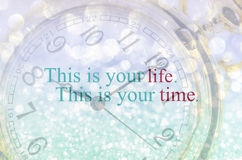 Life quote. Inspirational quote. Motivational. Royalty Free Stock Images