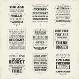 Life quotes set Royalty Free Stock Images
