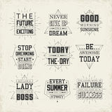 Life quotes set Stock Photography