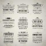 Life quotes set royalty free illustration