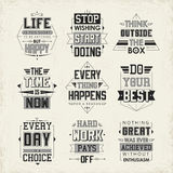 Life quotes set Royalty Free Stock Photo