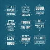Life quotes set Stock Photo