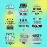 Life quotes set Stock Photos