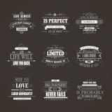 Life quotes set Stock Photo