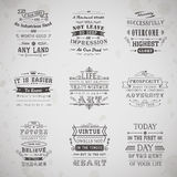 Life quotes set Royalty Free Stock Photos