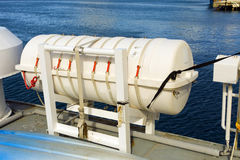 The life raft on a passenger ferry Royalty Free Stock Photo