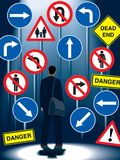 Life regulation signs Stock Image