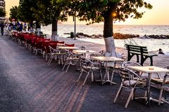 People And Environment Of Turkish Seaside Town Royalty Free Stock Image