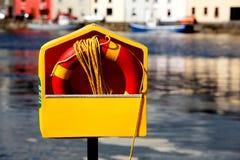 Life Ring. Beside Corrib River Galway Ireland Stock Photography