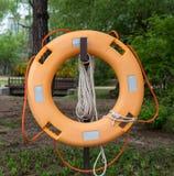 Life ring / Orange Life preserver Stock Photo
