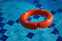 Life ring in the pool Stock Image