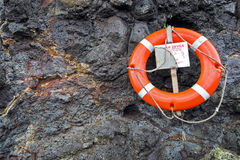 Life ring rescue device Royalty Free Stock Image