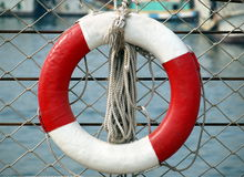 Life Ring and Rope Royalty Free Stock Photography