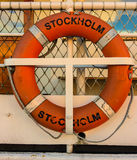 Life Ring on Stockholm Harbor Stock Images